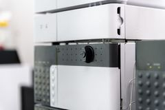 Chromatography equipment in medical laolatory. Research and development section Stock Photos