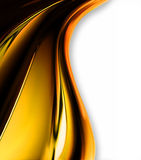Chrome. Wave of yellow chrome on a white background royalty free illustration