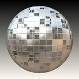 Chrome 3D Sphere. A chrome sphere covered in square shapes over its frame Stock Images