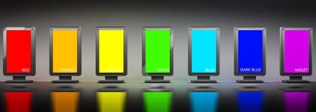 Chrome advertising billboard Stock Images