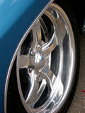Chrome Alloy Wheel stock photo