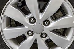 Chrome alloy wheel of car Stock Photography