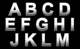 Chrome Alphabet