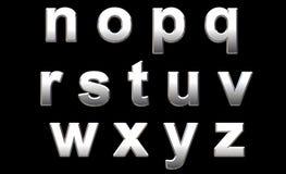 Chrome Alphabet. On Black. 3D Render Stock Image