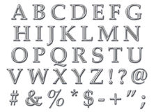 Chrome Alphabet Uppercase Stock Photo