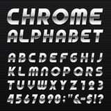 Chrome Alphabet Vector Font. Royalty Free Stock Photos