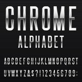 Chrome Alphabet Vector Font Royalty Free Stock Image