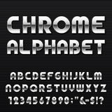 Chrome Alphabet Vector Font. Royalty Free Stock Images