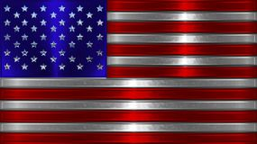 Chrome American Flag Illustration. This is a chromed American Flag Illustration Stock Image