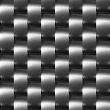 (Chrome, argent) configuration sans joint en acier foncée brillante Photos stock