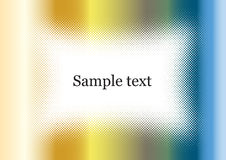 Chrome background frame colorful with sample text Royalty Free Stock Photography