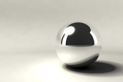 Chrome ball Royalty Free Stock Image