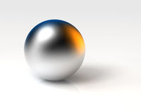 Chrome ball Royalty Free Stock Photography