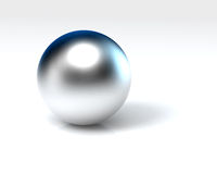 Chrome ball Royalty Free Stock Photo