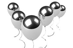 Chrome balloons Stock Images