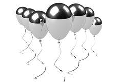 Chrome balloons group Stock Photo