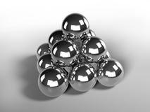 Chrome balls. Beautiful shinny 3d chrome balls Stock Photos