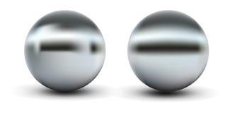 Chrome Balls. Chrome sphere grey with gradient mesh vector illustration