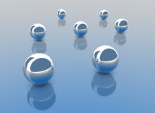 Chrome Balls Royalty Free Stock Images