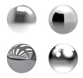 Chrome balls group on white background Royalty Free Stock Photo