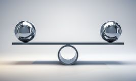 Free Chrome Balls On A Scale Stock Images - 119933364