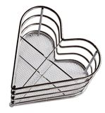 Chrome basket for kitchen appliances Royalty Free Stock Photo