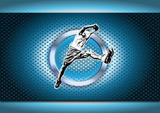 Chrome basketball poster background Royalty Free Stock Photography