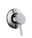 Chrome Bathroom Knob Stock Photo
