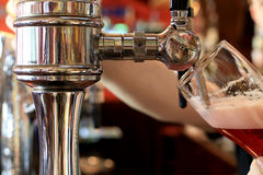 Chrome beer taps Royalty Free Stock Photos