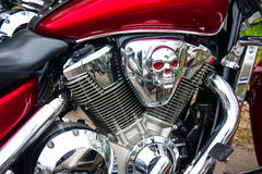 Chrome biker  skull Royalty Free Stock Photo