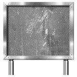 Chrome Billboard with Metal Grid Royalty Free Stock Image
