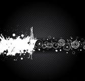 Chrome black background. Vector illustration Royalty Free Stock Images