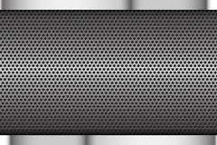 Chrome black and grey background texture Stock Images