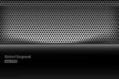 Chrome black and grey background texture vector illustration 005 Royalty Free Stock Photography