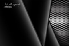 Chrome black and grey background texture vector illustration 008 Stock Photo