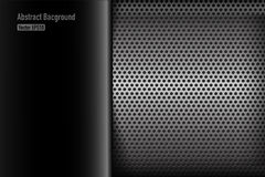 Chrome black and grey background texture vector illustration 007 Stock Photos