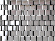 Chrome block background Royalty Free Stock Photos