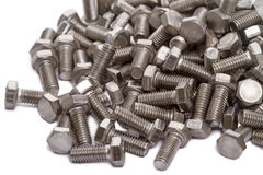 Chrome  bolts Stock Photography