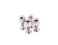 Chrome bolts with spherical nut Royalty Free Stock Image
