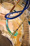 Chrome and Brass Staircases royalty free stock images