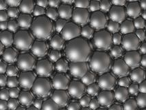 Chrome bubbles Royalty Free Stock Image