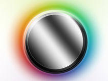 Chrome button. Over white background with colors frame Royalty Free Stock Images