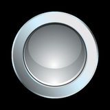 Chrome button. Internet glossy chrome button symbol icon Royalty Free Stock Image