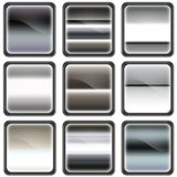Chrome button, buttons Stock Images