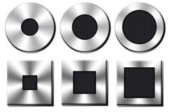 Chrome button Royalty Free Stock Image