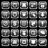 Chrome buttons Royalty Free Stock Photos