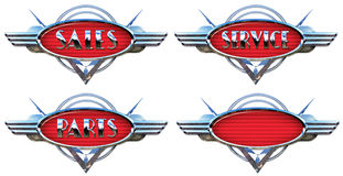 Chrome Car Logo stock illustration