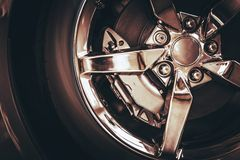 Chrome Car Wheel Stock Image