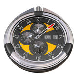 Chrome and carbon stopwatch Royalty Free Stock Image