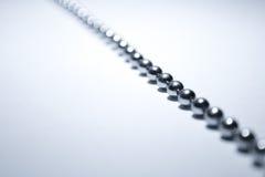 A Chrome Chain. A photograph of a chrome chain stock photos